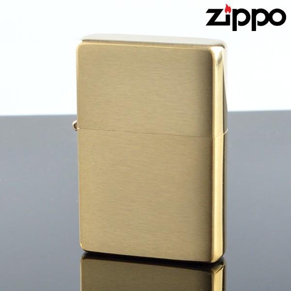 Zippo ジッポライター zp240cc スタンダードフラットトップビンテージ ブラスサテーナ オイルライター