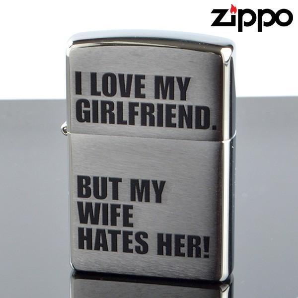 Zippo 10010006 ZIPPO I LOVE MY GIRLFRIEND ジッポライター