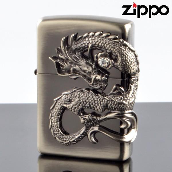 ZIPPO#200 龍サイドメタル ニッケル古美 ds-ni (10020056) ジッポーライター