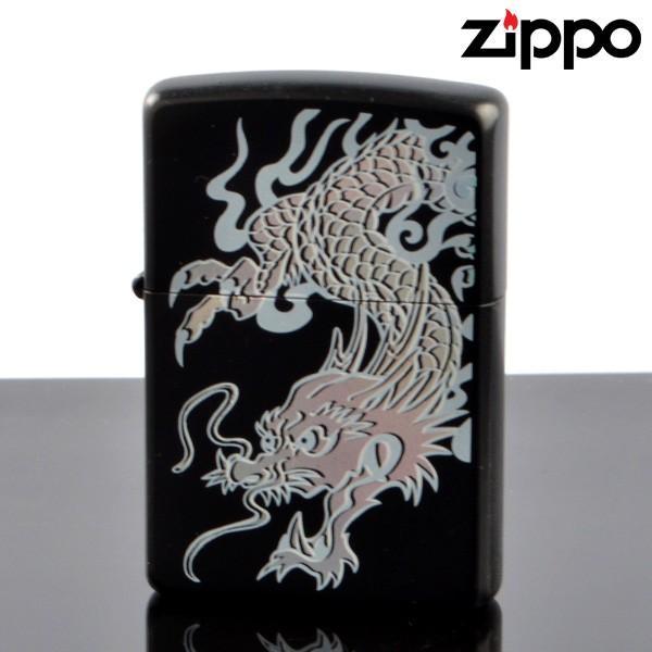 ZIPPO#200 和柄レインボー ブラックマット 龍 rl-bm (10020070) ジッポーライター