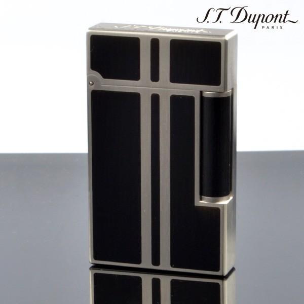 デュポン ライター ライン2 LIGNE2 16738 純正黒漆マット パラディウム(ガス1本・フリント1シート特典付) ブランド ライター フリントライター