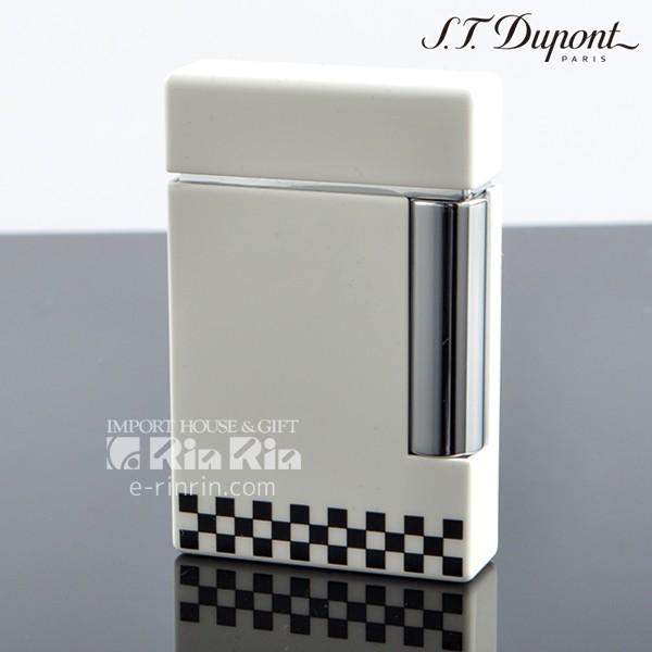 デュポン ライター ライン8 LINE8 25119 チェッカーフラッグ ホワイトラッカー クロム(フリント1シート特典付) ブランド ライター フリント