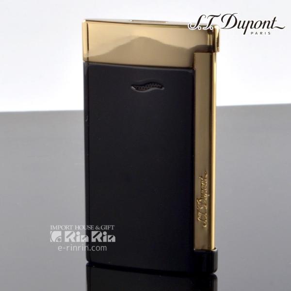 デュポン ライタースリム7 SLIM7 27708 ブラック イエローゴールド slim7 デュポンライター[Dupont] ブランド ライター ターボライター