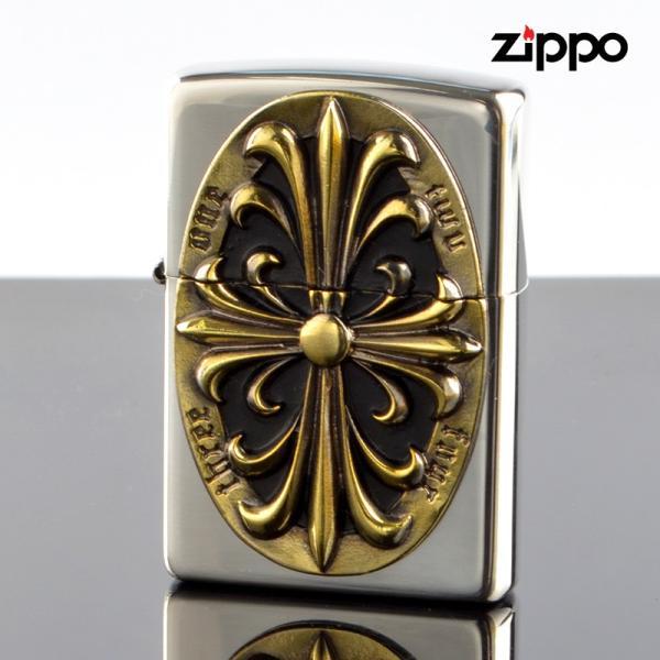 Zippo ジッポライター 2sim-crozg Metal メタル クロス
