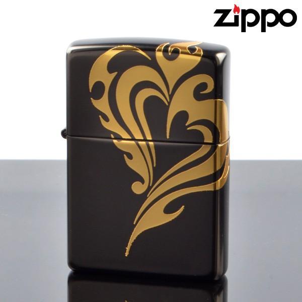 Zippo ジッポライター 3d-hart-gd 立体3D ハートGD 3面金メッキ連続盛り上げ加工