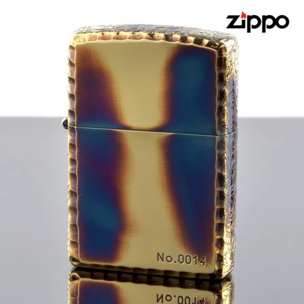 Zippo ジッポライター 3er-arabesque ゴールドイブシ 三面仕上げ シリアルナンバー入り