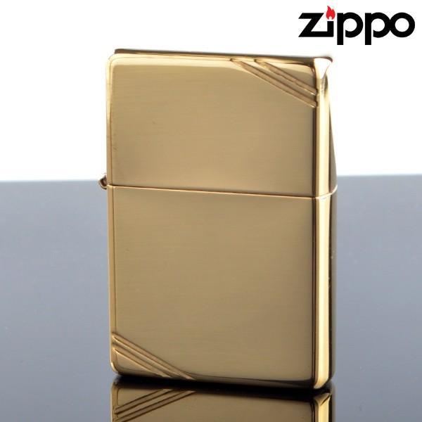 Zippo ジッポライター zp270 スタンダードフラットトップビンテージサイドカット ブラスポリッシュ オイルライター