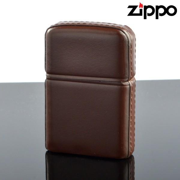 Zippo ジッポライター zp629636 ZP松阪牛革巻 ブラウン 松阪牛レザー オイルライター