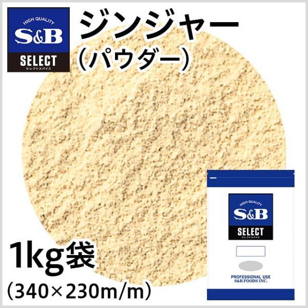 セレクト ジンジャー パウダー 袋1kg   SB S&B エスビー