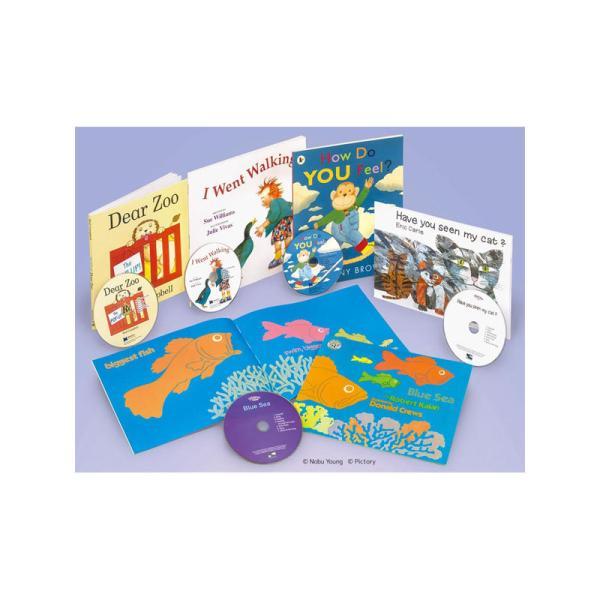 洋書 【英語の本棚】 クラスで楽しめる英語絵本セット(初級) CDつき 全5巻