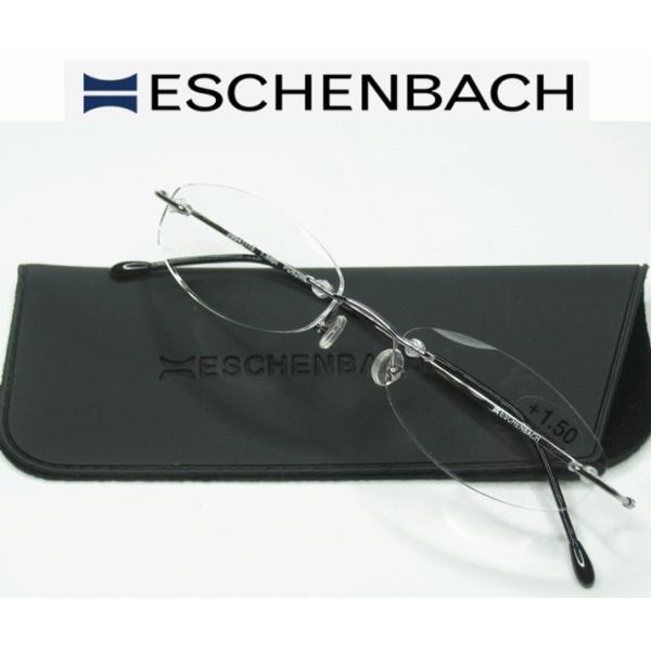 エッシェンバッハ 老眼鏡 ツーポイント シニアグラス 脅威の軽さ 非球面レンズ 縁なし オシャレなリーディンググラス