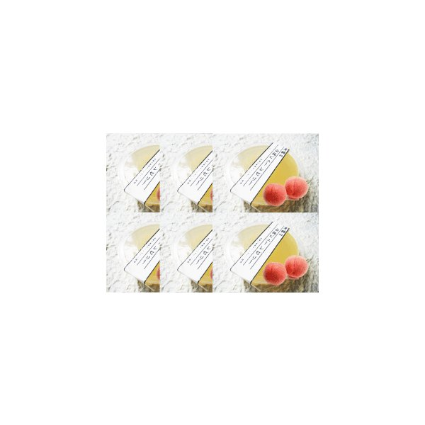 フルーツ ゼリー お試しセット 老舗 白桃 ピューレ ゼリー 送料無料 6個 メール便商品|e-sjapan|06