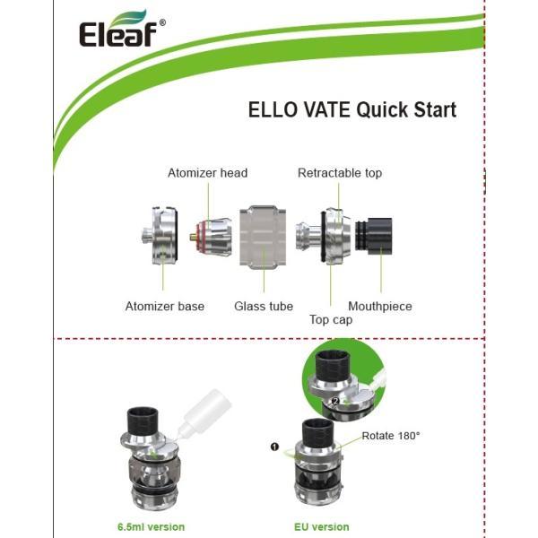 Eleaf ELLO VATE アトマイザー iStick pico Sのアトマイザー|e-vapejp|12