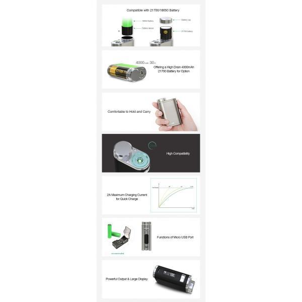 Eleaf iStick Pico 21700 100W TC Box MOD 25mmの乗るPico|e-vapejp|03