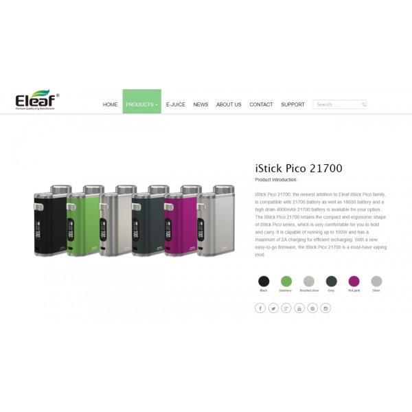 Eleaf iStick Pico 21700 100W TC Box MOD 25mmの乗るPico|e-vapejp|05