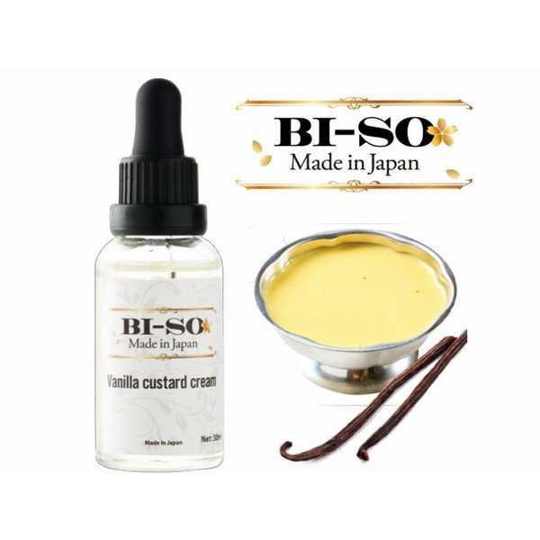 Vanilla custard cream 30ml【BI-SO】バニラカスタードクリーム ビーソ e-vapejp