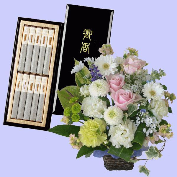 お供え花&線香セット・ローソクセットの品数が豊富