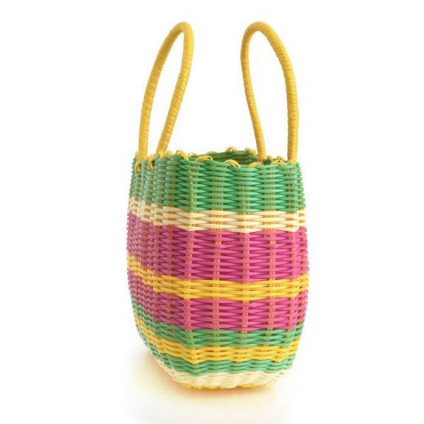 かごバッグ カゴバッグ ビニール トートバッグ レディース 収納 インテリア 鞄 バスケット 子供 エコバッグ ストローバッグ|e-zakkamania|13