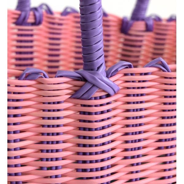 かごバッグ カゴバッグ ビニール トートバッグ レディース 収納 インテリア 鞄 バスケット 子供 エコバッグ ストローバッグ|e-zakkamania|14