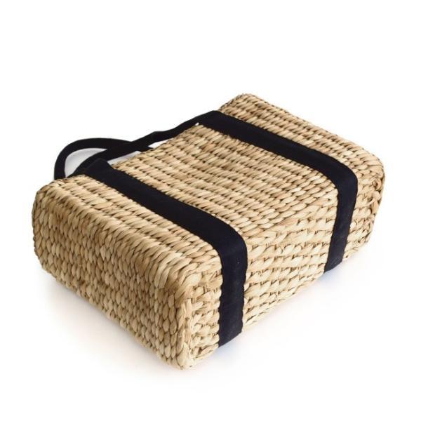 カゴバッグ トートバッグ 鞄 夏 かごバッグ バスケット レディース ピクニック お花見 アウトドア 海 レジャー 保冷バッグ クーラーバッグ フェス|e-zakkamania|13