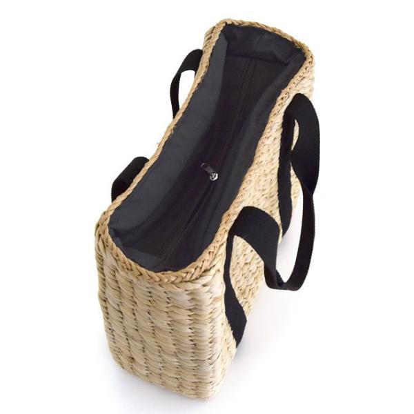 カゴバッグ トートバッグ 鞄 夏 かごバッグ バスケット レディース ピクニック お花見 アウトドア 海 レジャー 保冷バッグ クーラーバッグ フェス|e-zakkamania|14