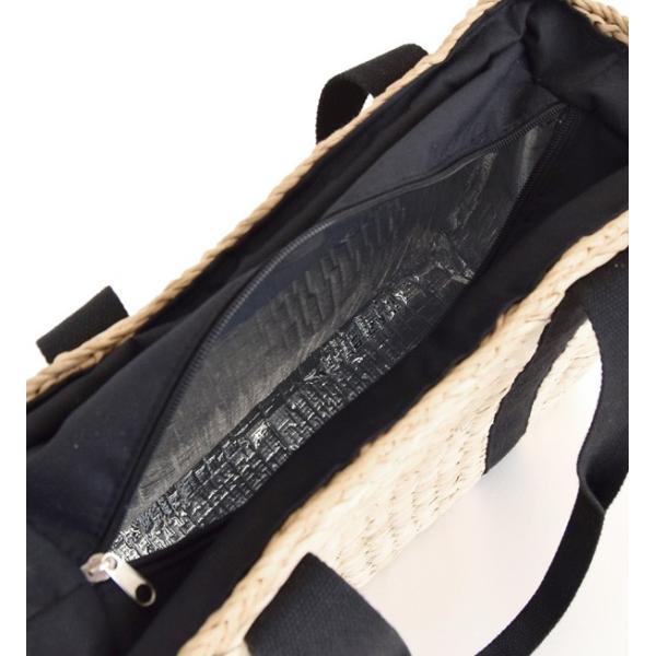 カゴバッグ トートバッグ 鞄 夏 かごバッグ バスケット レディース ピクニック お花見 アウトドア 海 レジャー 保冷バッグ クーラーバッグ フェス|e-zakkamania|16