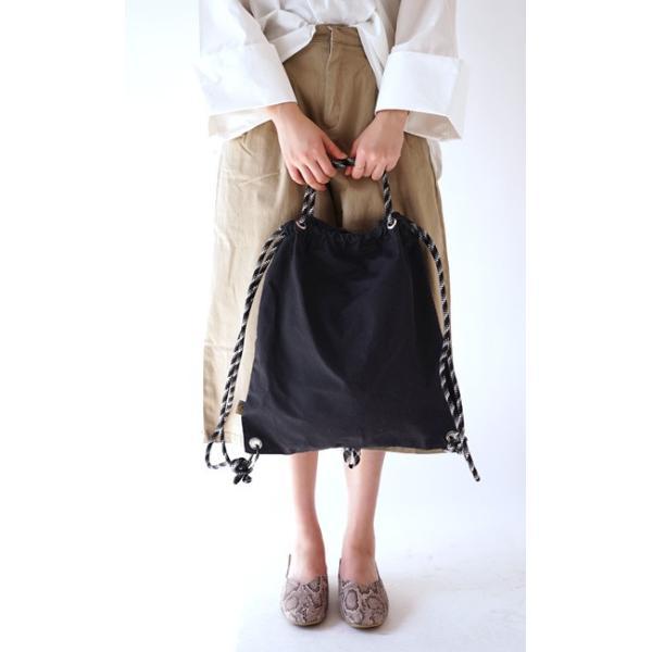 リュックサック トートバッグ ナップサック レディース 春 バッグ 鞄 カバン リュック トート 肩掛け 手提げ 綿 コットン 帆布 無地  旅行  パラフィン加工