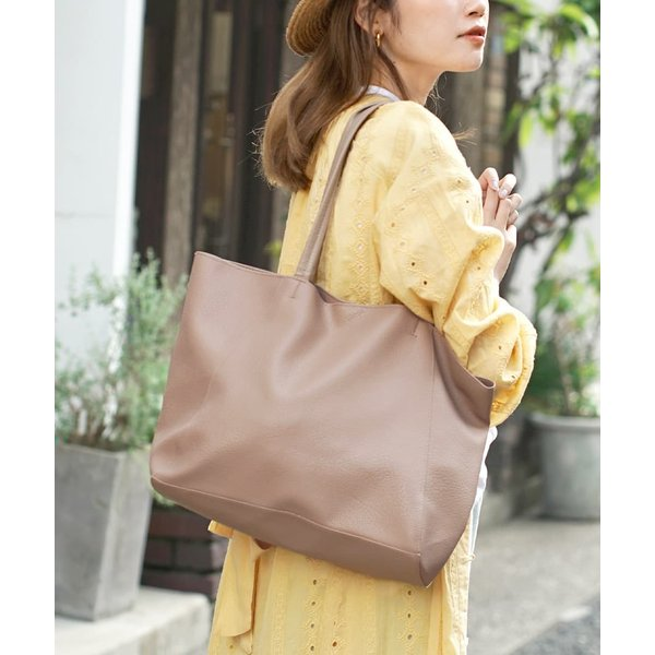 トートバッグレディースバッグ鞄カバン軽量フェイクレザーA4大容量通学通勤オフィスカジュアル無地プラティコA4トートバッグ