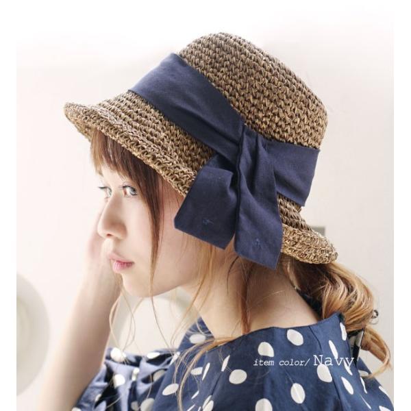 麦わら帽子 ハット レディース 折りたたみ 紫外線対策 UV対策 帽子 ペーパーハット ツバ広 日焼け対策 サイズ調整 ストローハット 夏|e-zakkamania|11