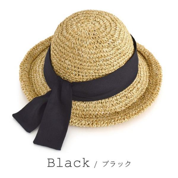 麦わら帽子 ハット レディース 折りたたみ 紫外線対策 UV対策 帽子 ペーパーハット ツバ広 日焼け対策 サイズ調整 ストローハット 夏|e-zakkamania|17