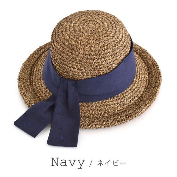 麦わら帽子 ハット レディース 折りたたみ 紫外線対策 UV対策 帽子 ペーパーハット ツバ広 日焼け対策 サイズ調整 ストローハット 夏|e-zakkamania|19