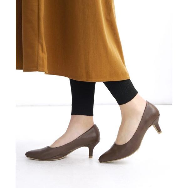 パンプス 6cmヒール ポインテッドトゥ レディース 靴 結婚式 痛くない ぺたんこ 楽ちん 走れる ブラック 黒 フォーマル ヒール 春 夏|e-zakkamania|19