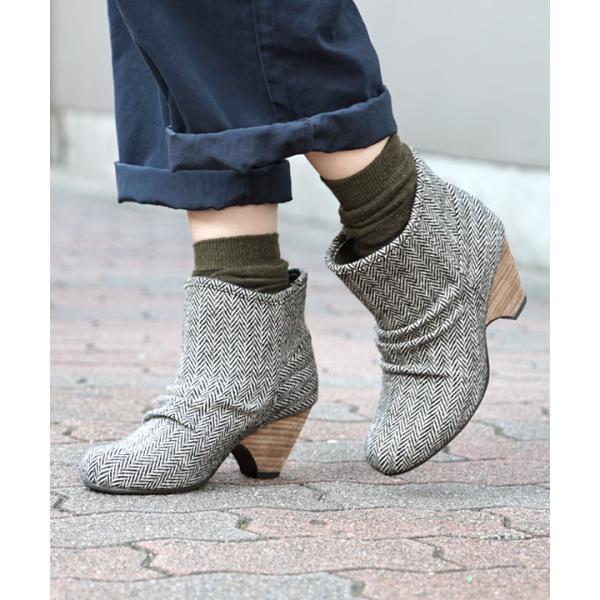 ショートブーツ ブーティー ブーツ ブープス レディース 歩きやすい 痛くない 冬 フェイクレザー 婦人靴 スタックヒール|e-zakkamania