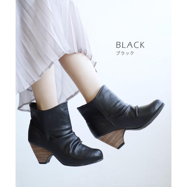 ショートブーツ レディース ブーティー ブーツ 歩きやすい 痛くない 秋 冬 フェイクレザー 婦人靴 チェック柄 無地|e-zakkamania|14