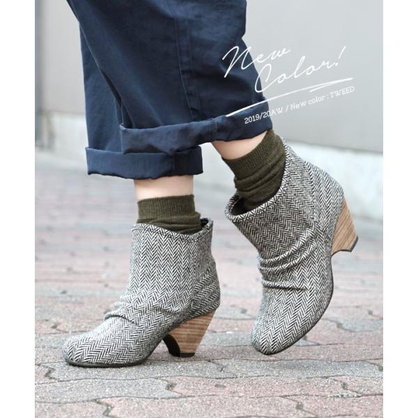 ショートブーツ ブーティー ブーツ ブープス レディース 歩きやすい 痛くない 冬 フェイクレザー 婦人靴 スタックヒール|e-zakkamania|04