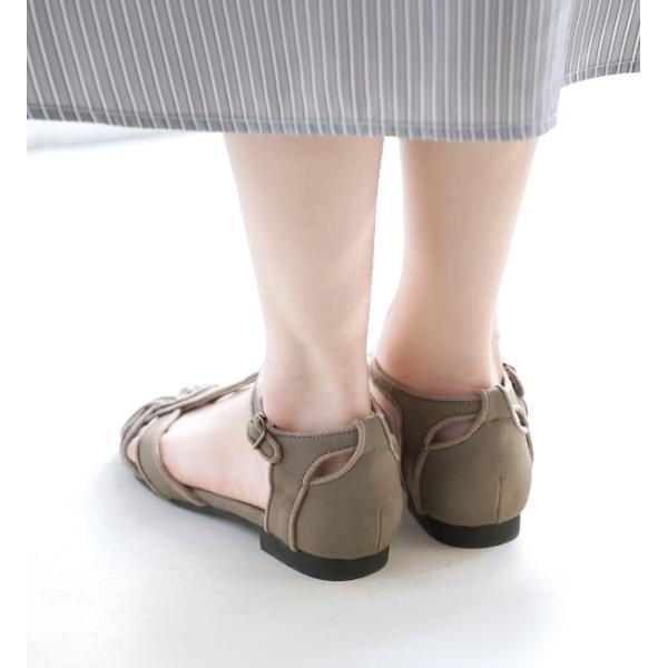 サンダル レディース 2cmヒール ローヒール 脚長効果 T字ストラップ 春 シューズ パンプス 靴 くつ  ぺたんこ ストラップサンダル|e-zakkamania|15