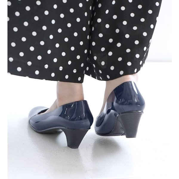 レインシューズ パンプス ラバーパンプス レディース 痛くない シューズ 靴 梅雨 通勤 防水 大きいサイズ 脱げない ベージュ 春 夏|e-zakkamania|11