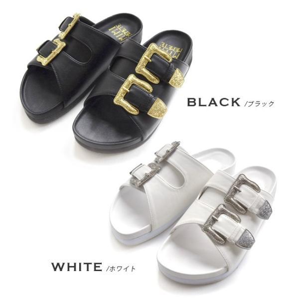 サンダル ベルトサンダル 靴 シューズ コンフォートシューズ フラットサンダル フットベッド レディースサンダル|e-zakkamania|02