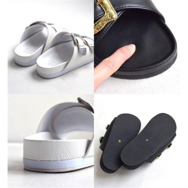サンダル ベルトサンダル 靴 シューズ コンフォートシューズ フラットサンダル フットベッド レディースサンダル|e-zakkamania|04