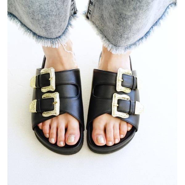 サンダル ベルトサンダル 靴 シューズ コンフォートシューズ フラットサンダル フットベッド レディースサンダル|e-zakkamania|06