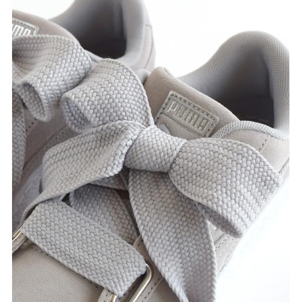 スニーカー HEART ハート コレクション レディース シューズ 靴 くつ 厚底 ウィメンズ スウェード ハート エンボス 364083 PUMA プーマ SUEDE HEART EMBOSS WNS|e-zakkamania|10
