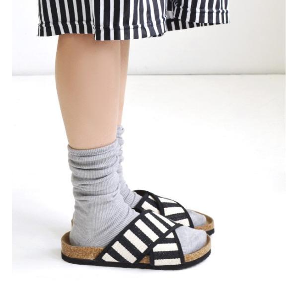 靴下 ソックス レディース 白 リブ ロング ルーズソックス くしゅくしゅ 細か 畝 おしゃれ かわいい ハイソックス シンプル 定番|e-zakkamania|06