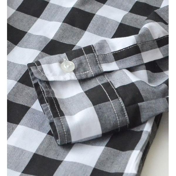 UVカット シャツ ブラウス レディース 長袖 白シャツ ゆったり UV対策 日焼け対策 紫外線 UVカットシャツ チェックシャツ 秋|e-zakkamania|12