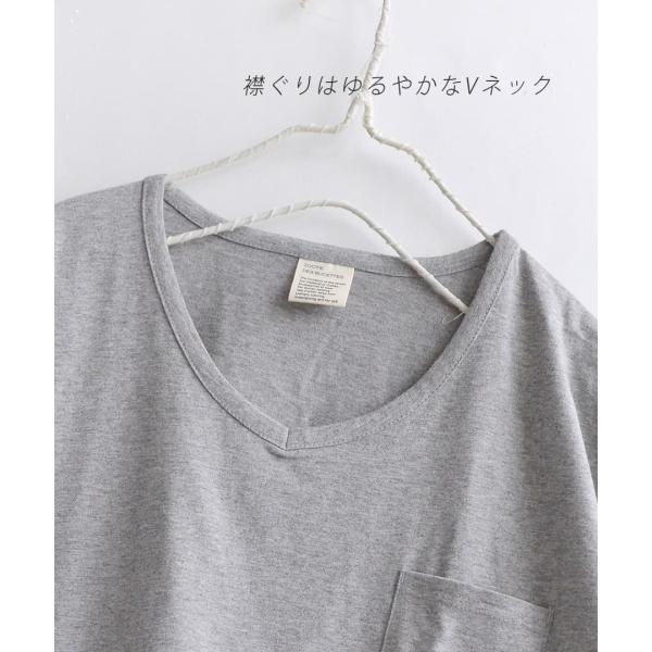 汗しみ防止 Tシャツ レディース 半袖 汗 吸収 脇汗 速乾 UVカット 紫外線対策 綿100% カットソー Vネック 無地 トップス tシャツ|e-zakkamania|12