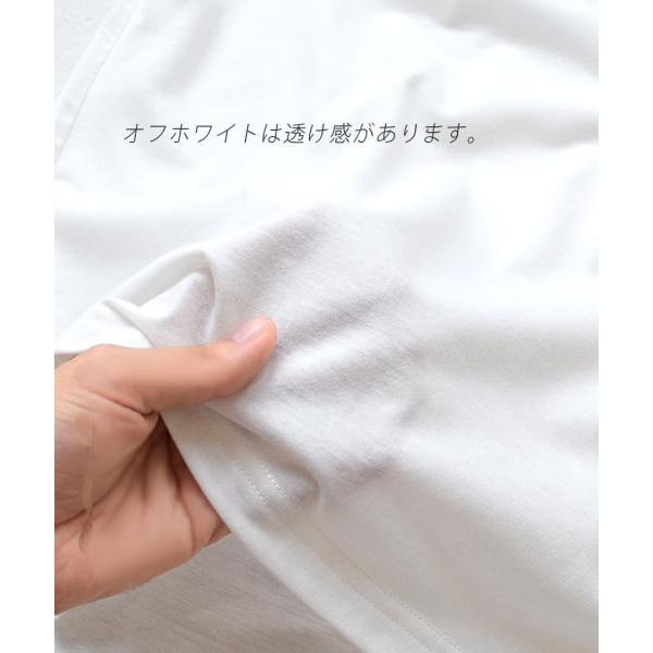 汗しみ防止 Tシャツ レディース 半袖 汗 吸収 脇汗 速乾 UVカット 紫外線対策 綿100% カットソー Vネック 無地 トップス tシャツ|e-zakkamania|14