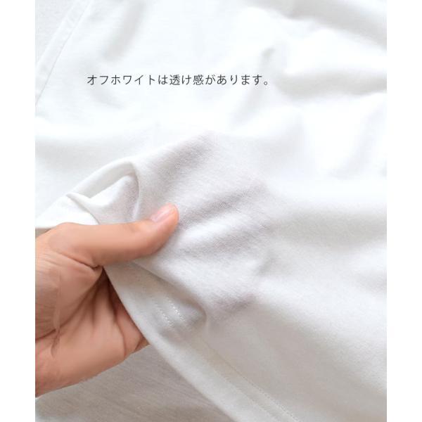 汗しみ防止 Tシャツ レディース 半袖 汗 吸収 速乾 脇汗 綿100% UV対策 カットソー ゆったり 大きいサイズ 無地 トップス|e-zakkamania|14