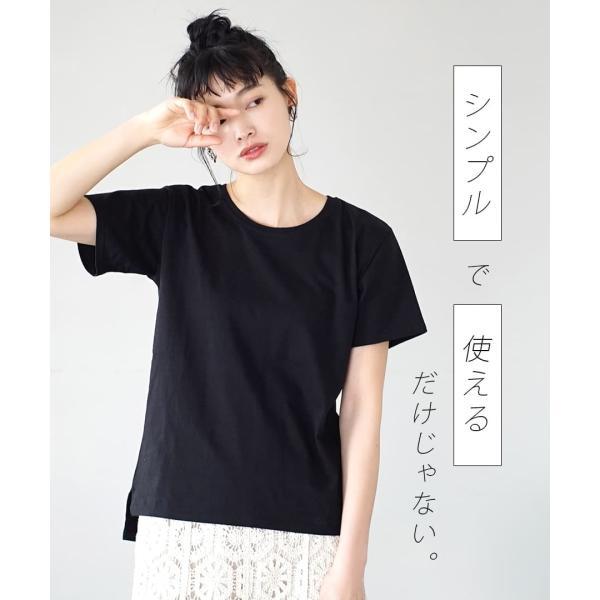 汗しみ防止 Tシャツ レディース 半袖 汗 吸収 速乾 脇汗 綿100% UV対策 カットソー ゆったり 大きいサイズ 無地 トップス|e-zakkamania|05