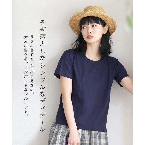 汗しみ防止 Tシャツ レディース 半袖 汗 吸収 速乾 脇汗 綿100% UV対策 カットソー ゆったり 大きいサイズ 無地 トップス|e-zakkamania|10