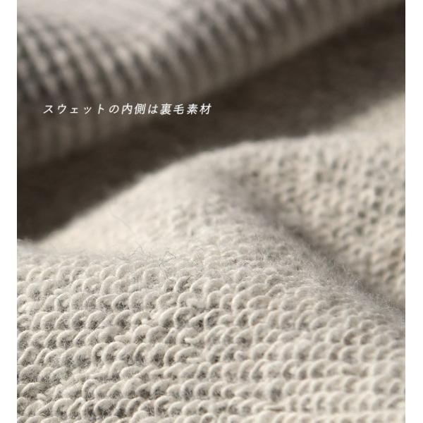 ベスト レディース 春 夏 トップス 羽織り 重ね着 ノースリーブ 丸首 クルーネック 綿混 コットン サーマル ワッフル スウェット カジュアル リボン 異素材|e-zakkamania|07