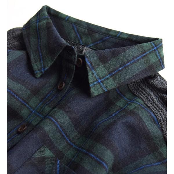 シャツ チェックシャツ チェック ネル 長袖 レディース 大きいサイズ ネルシャツ ニット トップス フランネル e-zakkamania 08